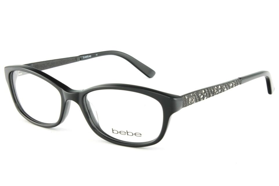 bebe BB5068 IT WASNT ME 001 JET | bebe glasses frames from All4Eyes